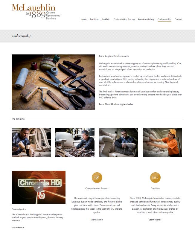 Custom Upholstery Website
