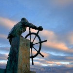 Fisherman's Memorial (Man at the Wheel) – December, Gloucester MA