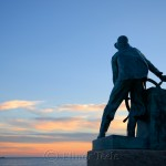 Fisherman's Memorial (Man at the Wheel) – November, Gloucester MA