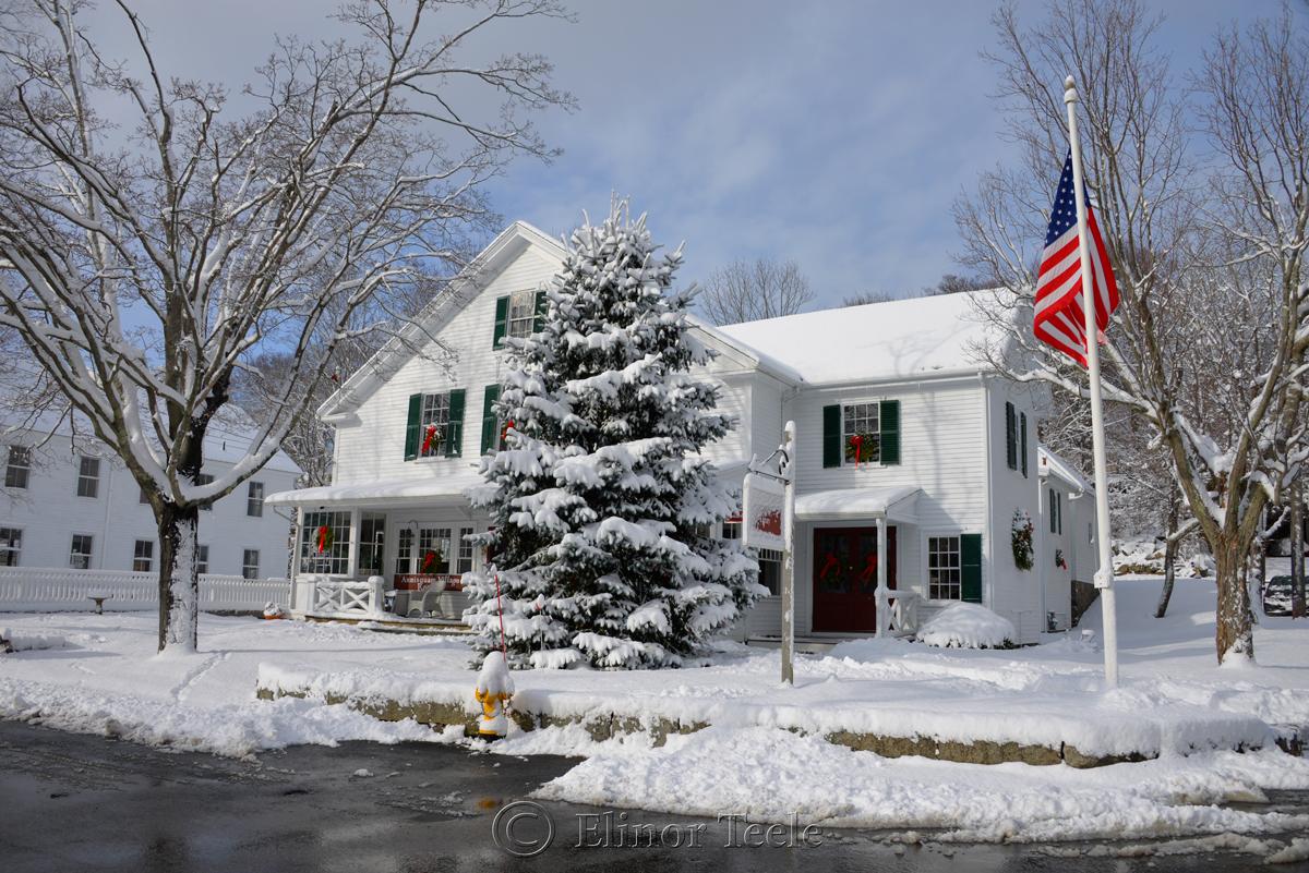 Annisquam Village Hall, January Snow, Annisquam MA
