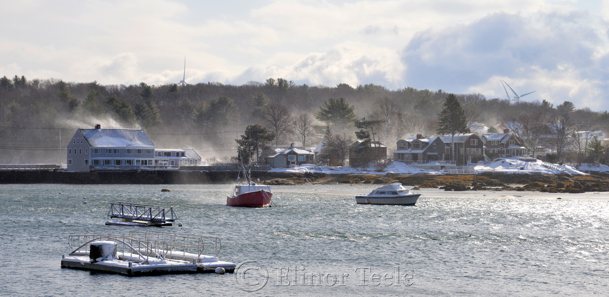 Goose Cove Causeway, January Snow, Annisquam MA