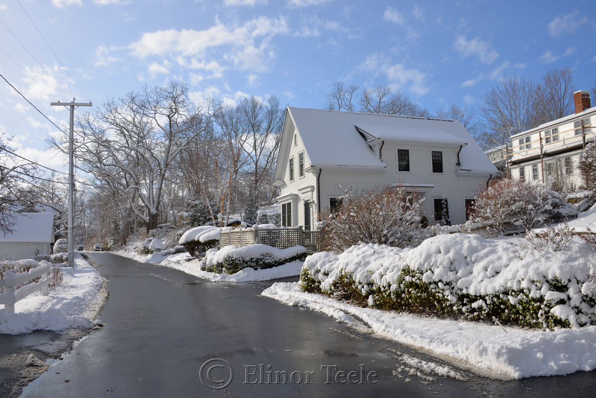 River Road, January Snow, Annisquam MA 1