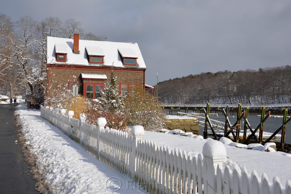 River Road, January Snow, Annisquam MA 2