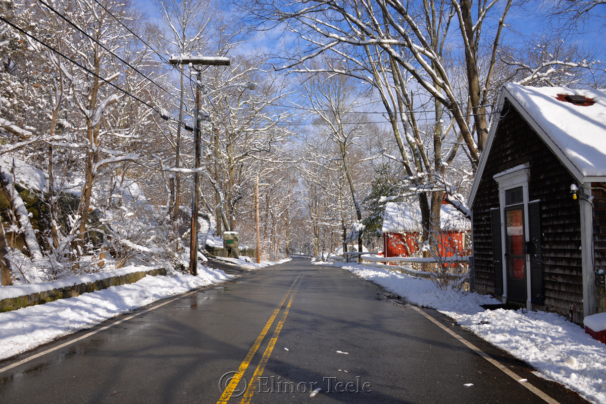 Walnut Street, January Snow, Annisquam MA