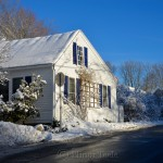 Blue Shutters, February Snow 2016, Annisquam MA