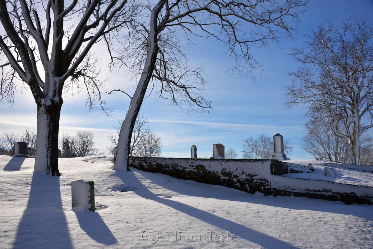 Mt. Adnah Cemetery, February Snow 2016, Annisquam MA