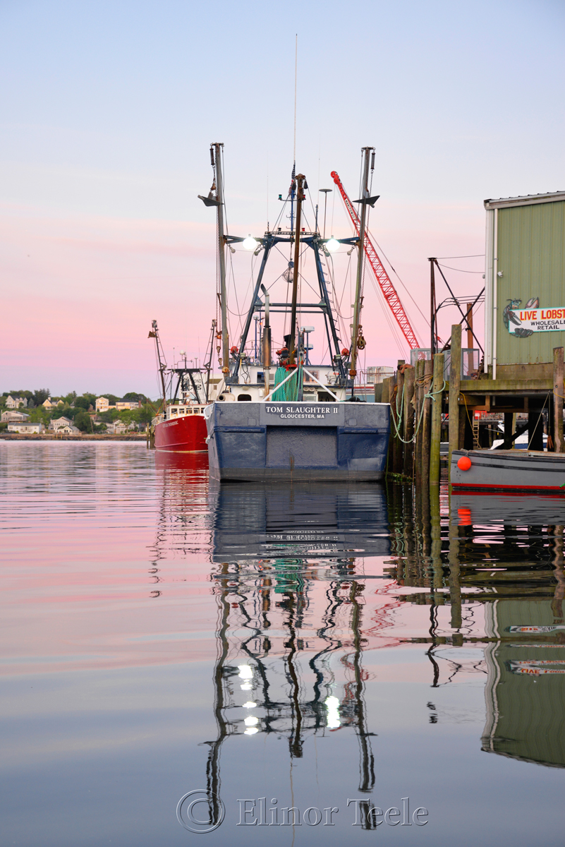 Gloucester Harbor Sunset - F/V Tom Slaughter II, Gloucester MA 1