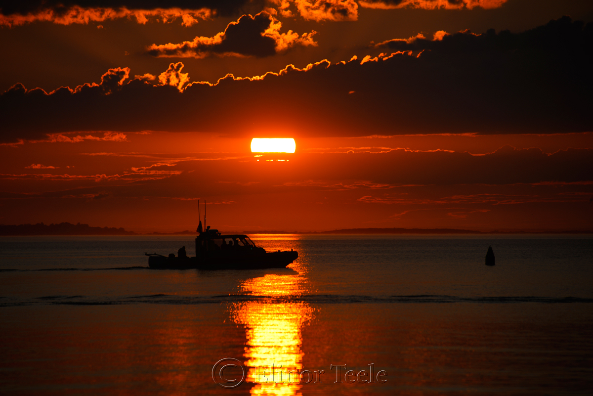 Coast Guard & Sunset, Ipswich Bay