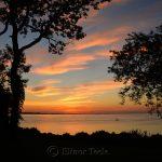 Sunset in Silhouette, Ipswich Bay