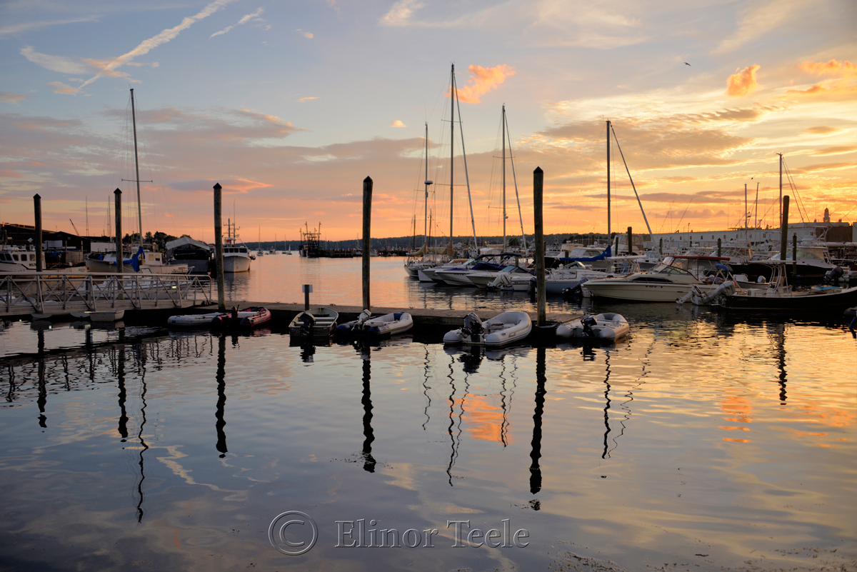 Gloucester Harbor Sunset, Cripple Cove Series 4