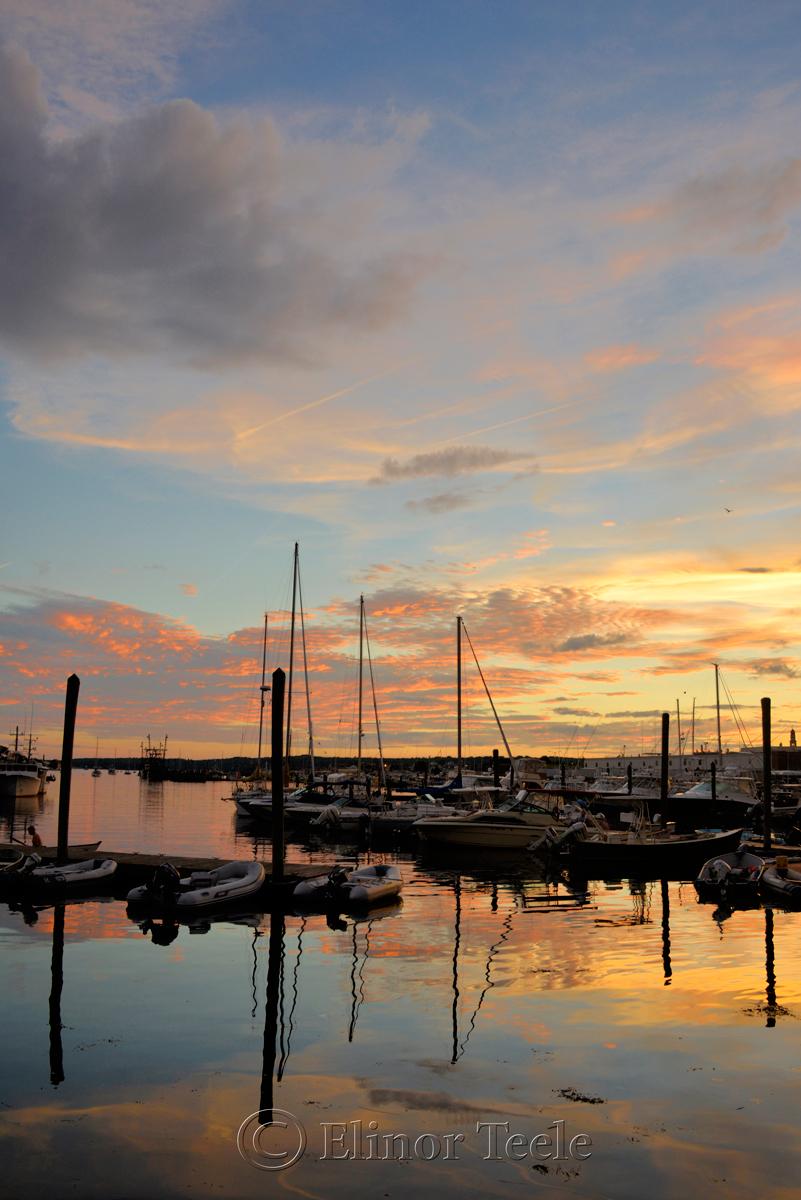 Gloucester Harbor Sunset, Cripple Cove Series 7