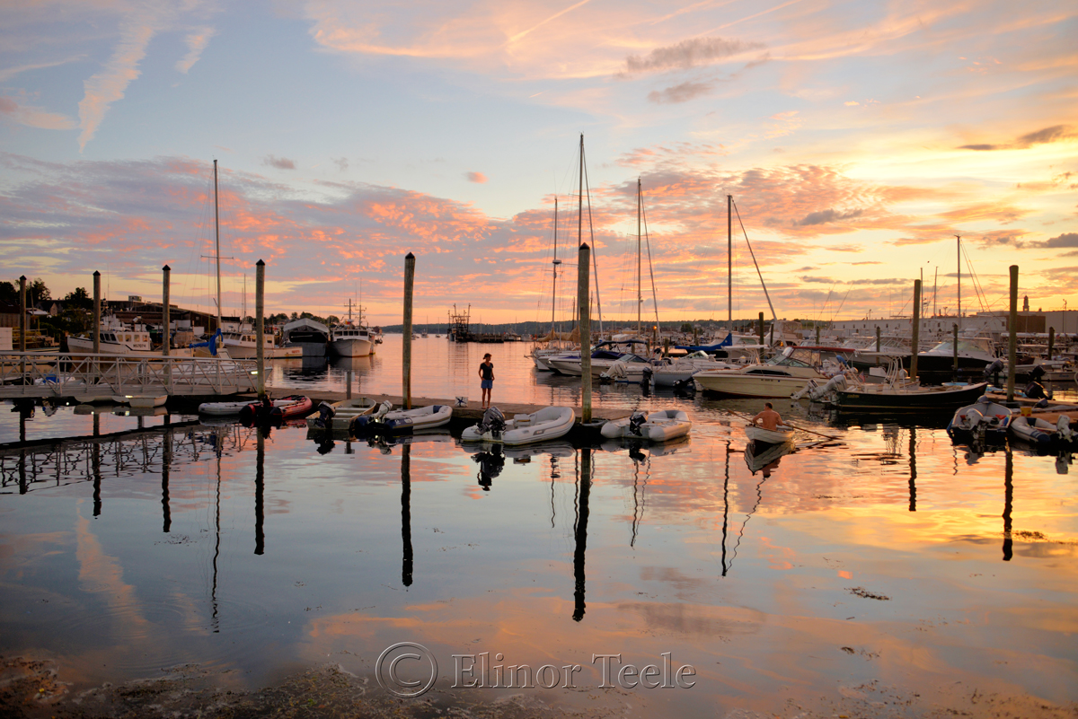 Gloucester Harbor Sunset, Cripple Cove Series 8