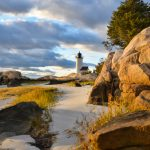 Lighthouse & Rocks in October 1