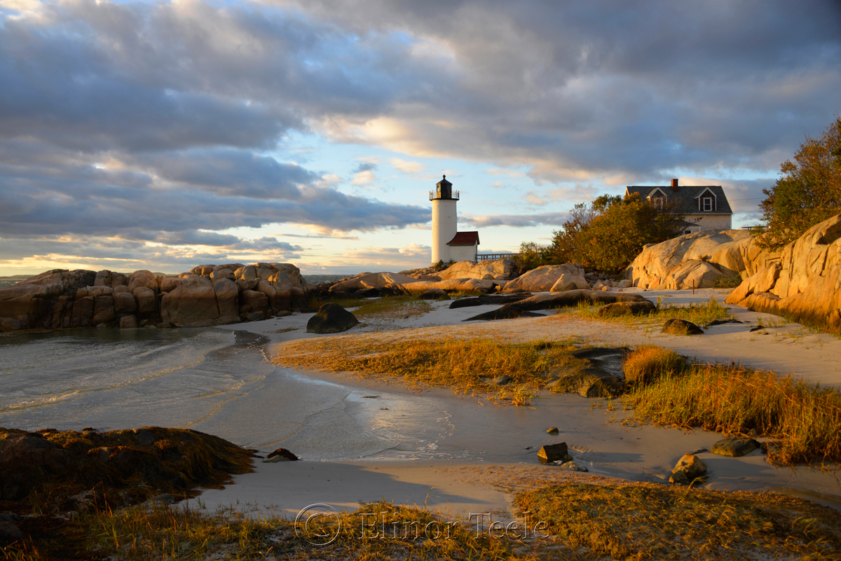 Lighthouse & Rocks in October 2