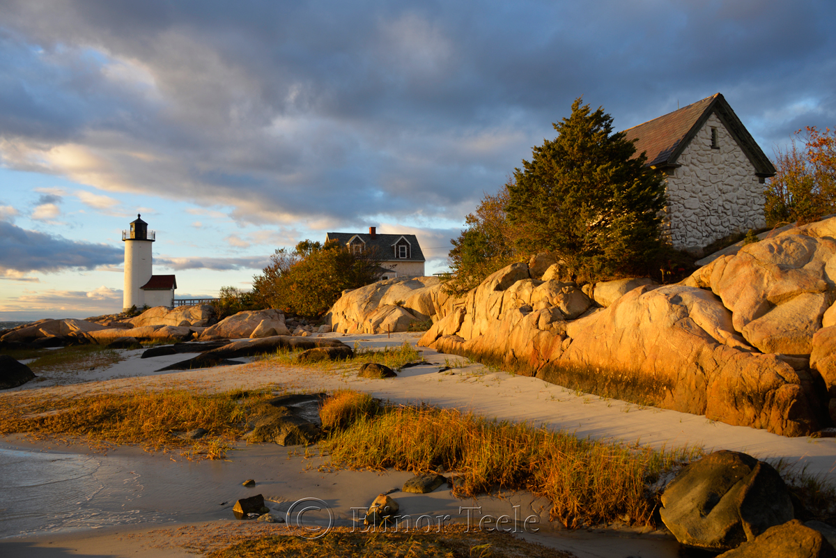 Lighthouse & Rocks in October 3