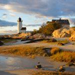 Lighthouse & Rocks in October 4