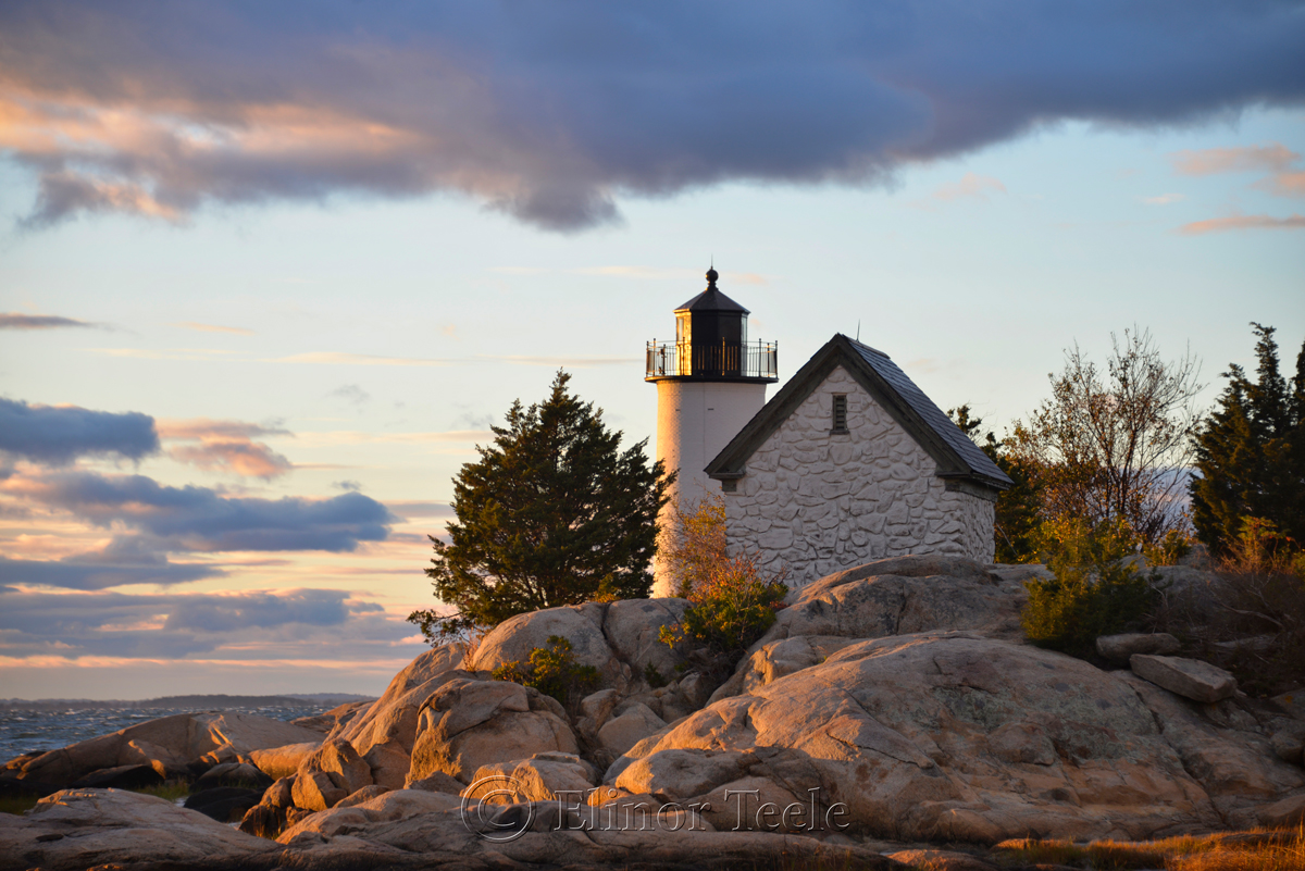 Lighthouse & Rocks in October 7