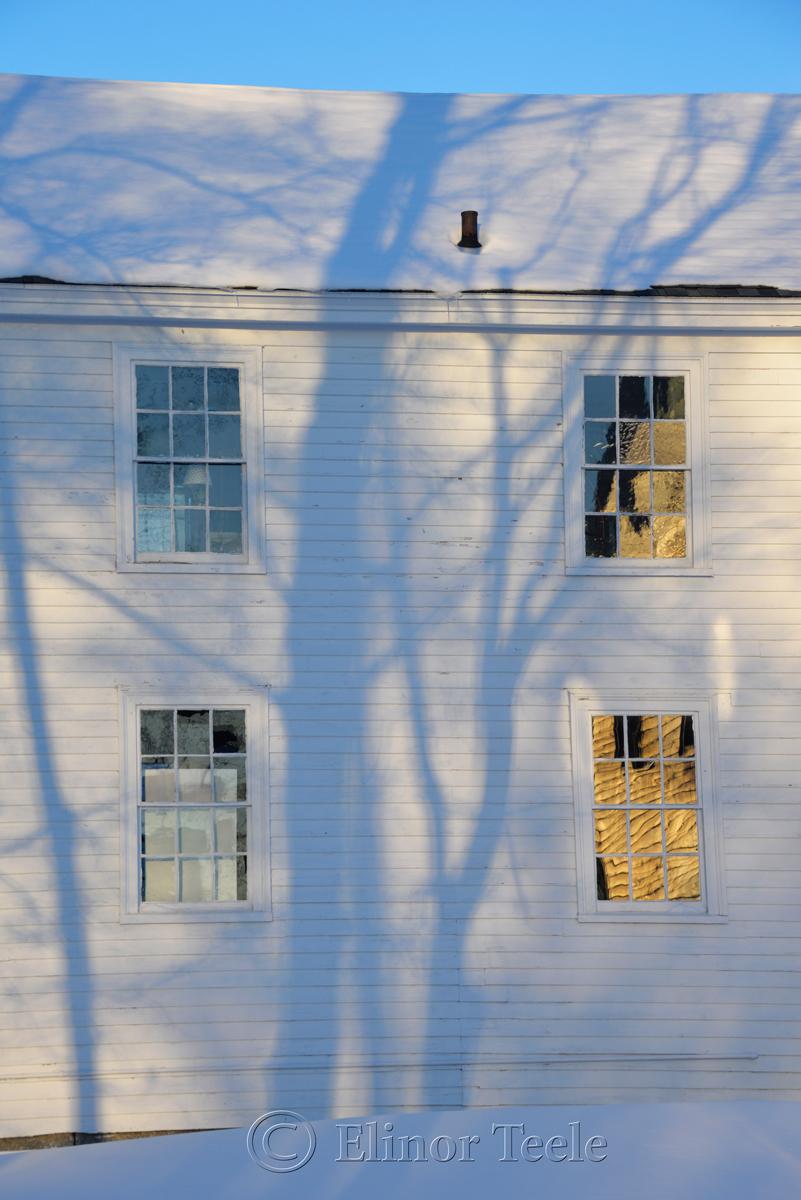 Village Hall Windows - January Snow