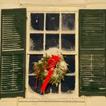 Village Hall Wreath - January Snow