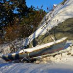 Boat and Trailer - January Snow 1