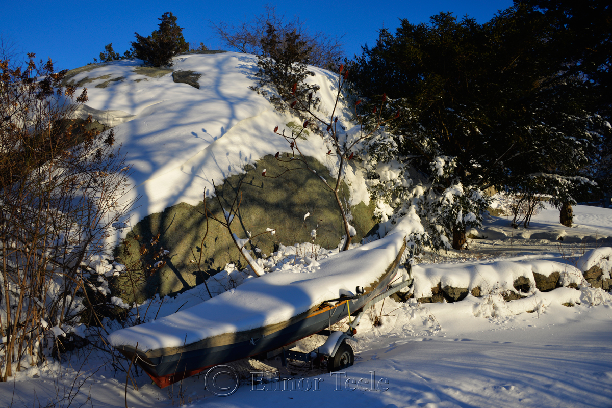 Boat and Trailer - January Snow 2