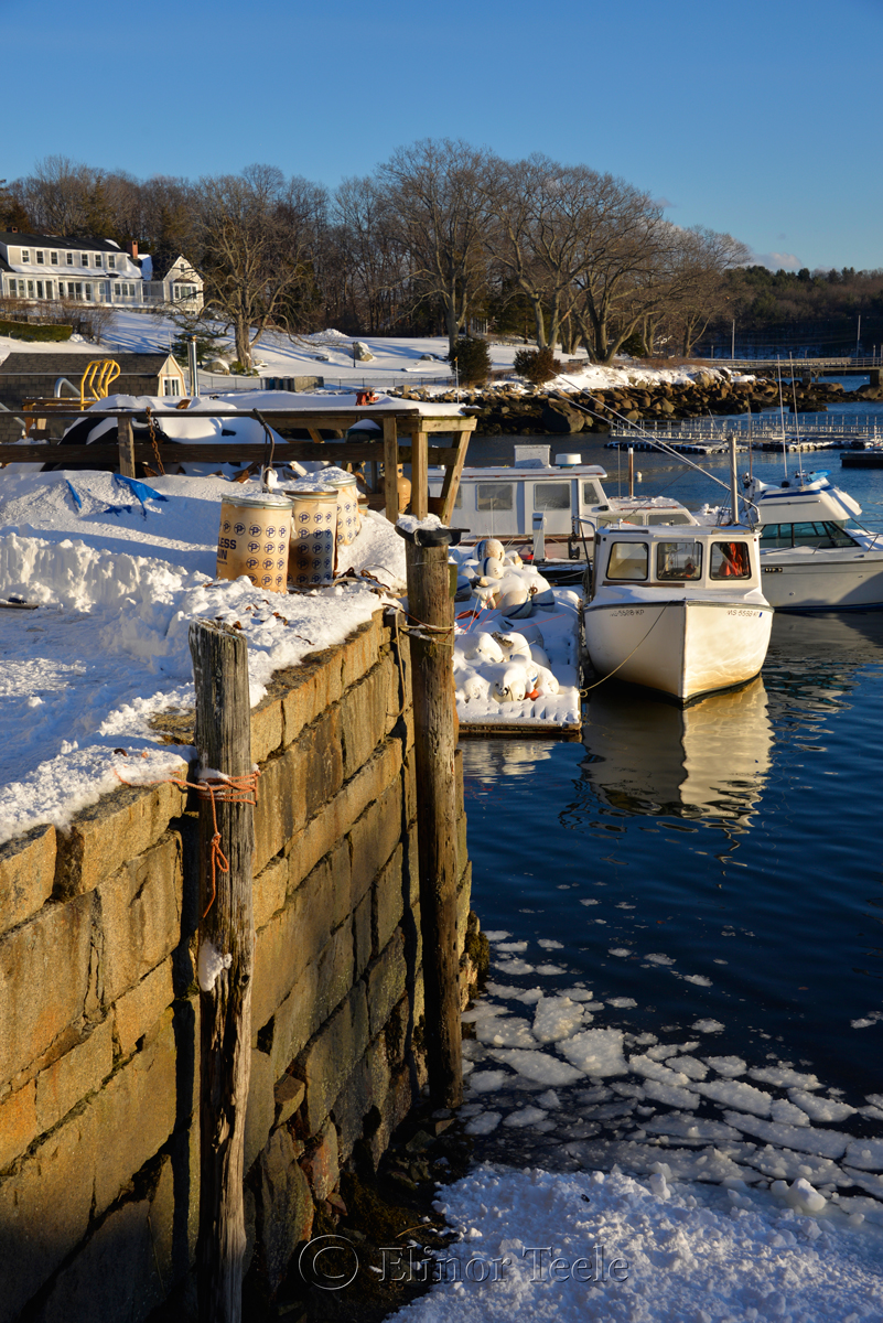 Market Docks - January Snow 1