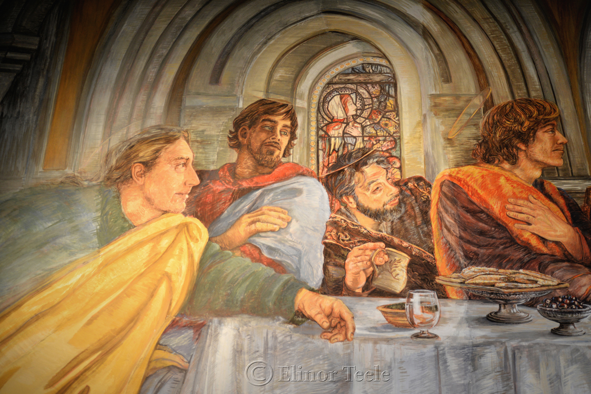Last Supper, Eleanor Yates Fresco