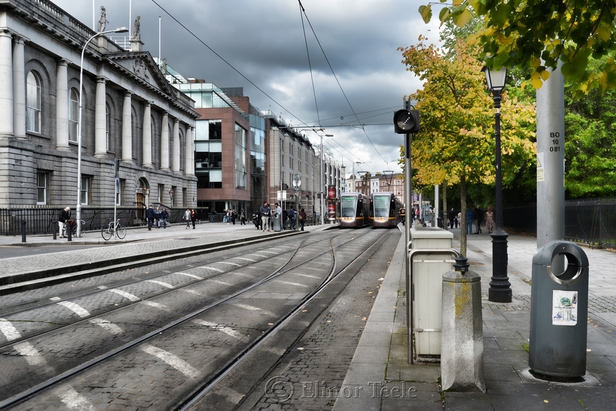 Trams, St. Stephen's Green, Dublin