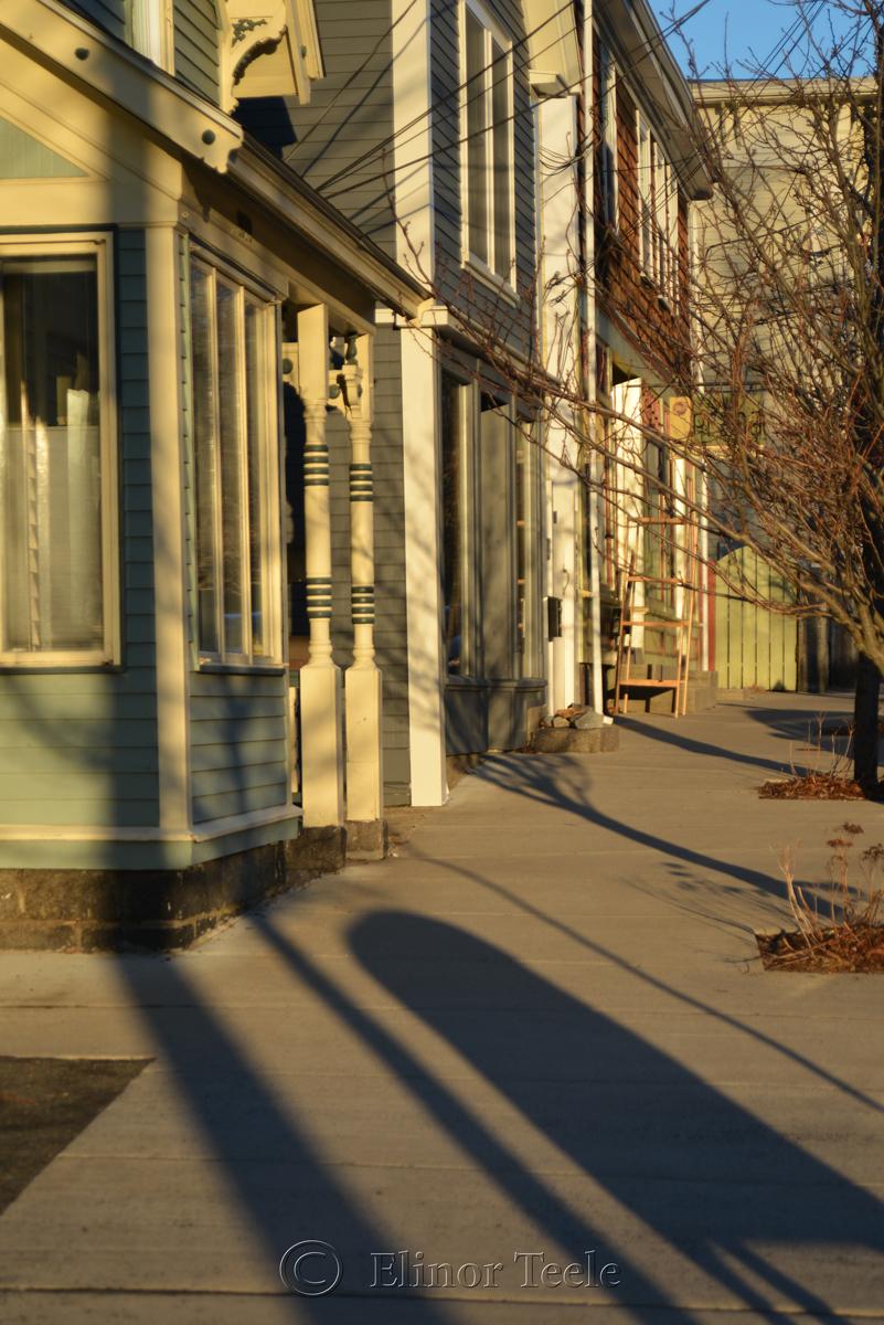 Washington Street in Lanesville, MA - Winter Light
