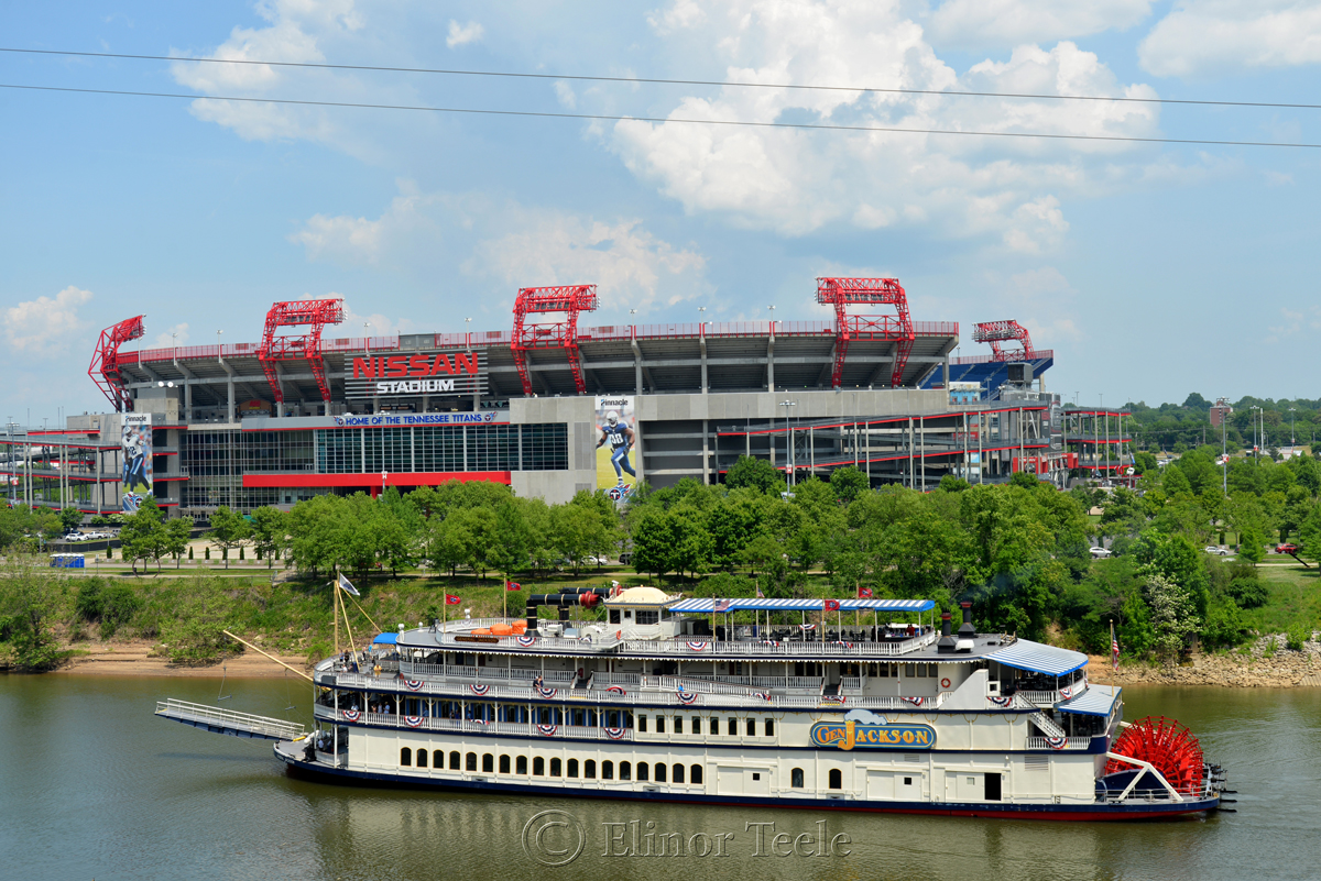 General Jackson Steamboat and Nissan Stadium, Nashville