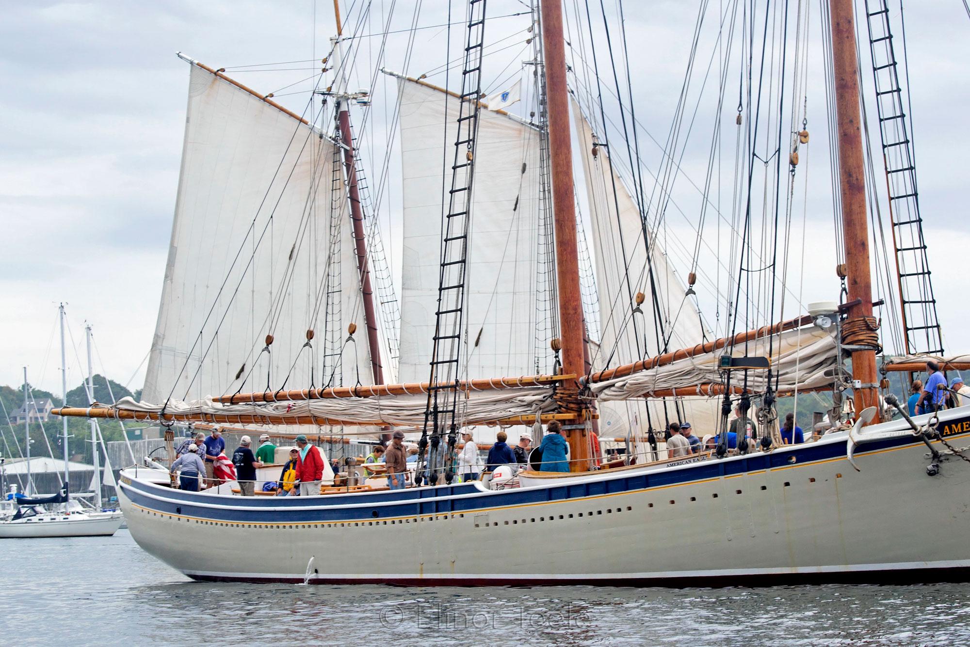 Schooner Festival 2013 American Eagle Raising Sail