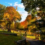 New England Fall Foliage - Cemetery 1
