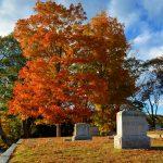 New England Fall Foliage - Cemetery 2