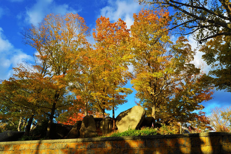 New England Fall Foliage - Cemetery 3