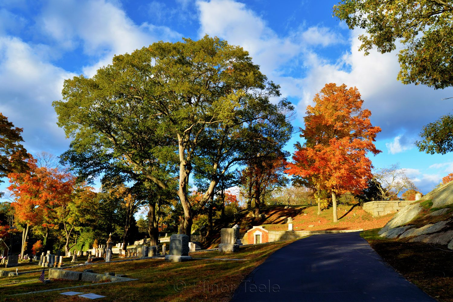 New England Fall Foliage - Cemetery 4