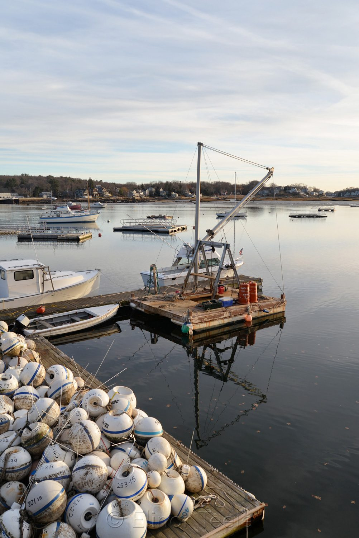 Buoys and Crane, Annisquam Harbor