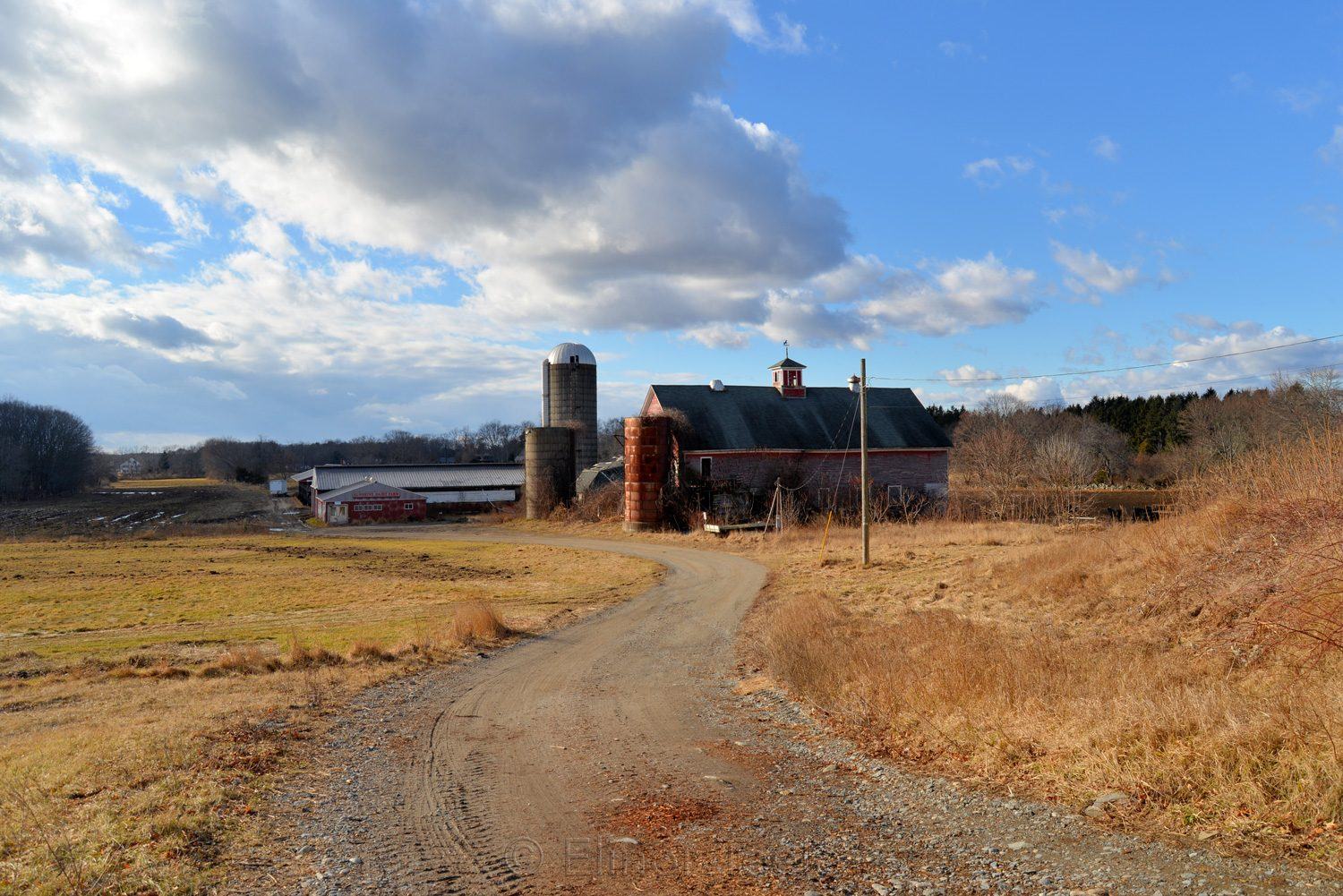 Sunshine Dairy Farm in Winter, Newbury MA
