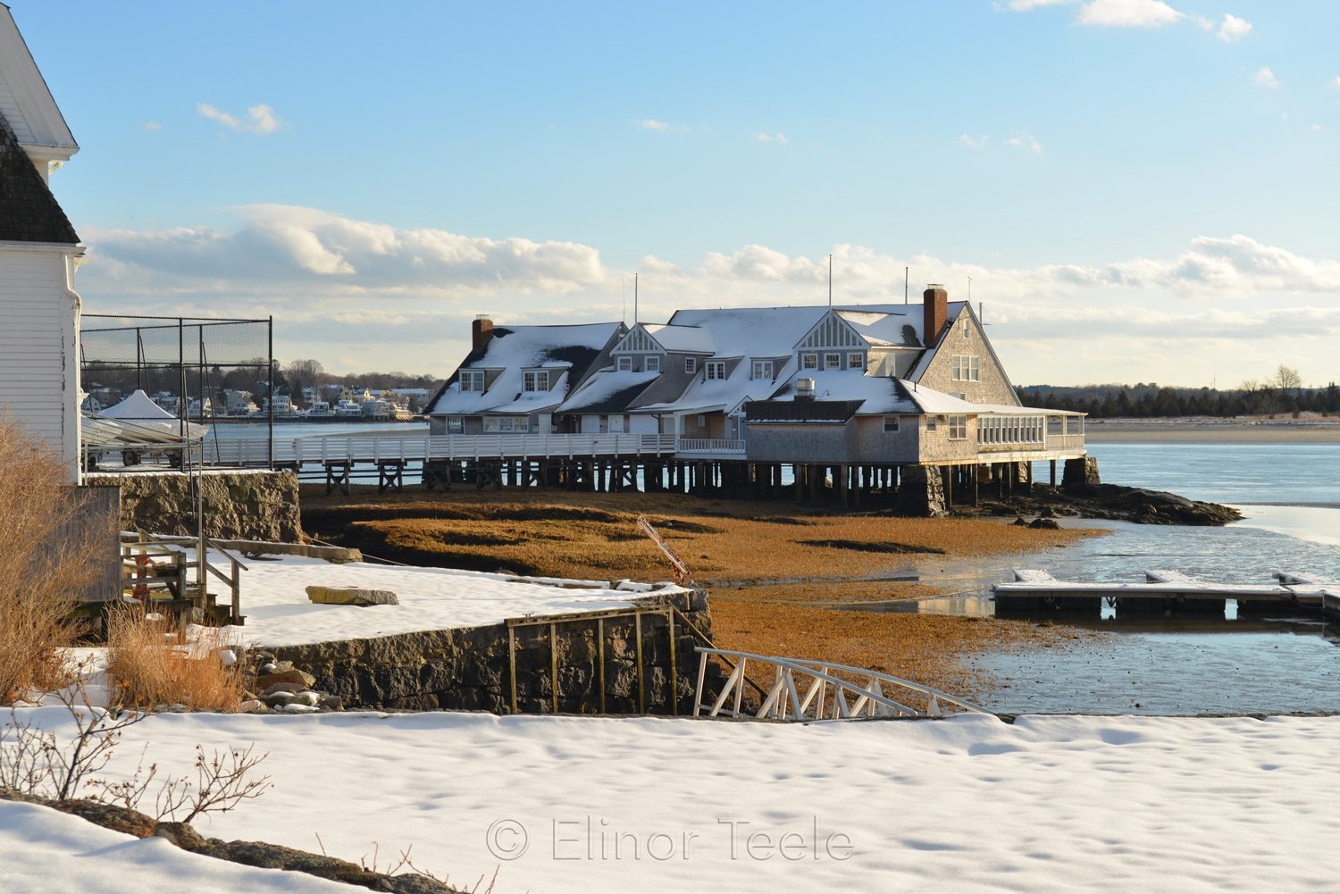 Annisquam Yacht Club in Melting Snows