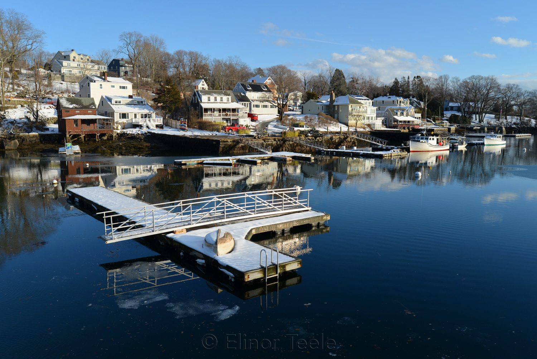 Harbor Dock in Melting Snows