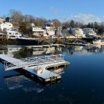 Harbor Dock in Melting Snows