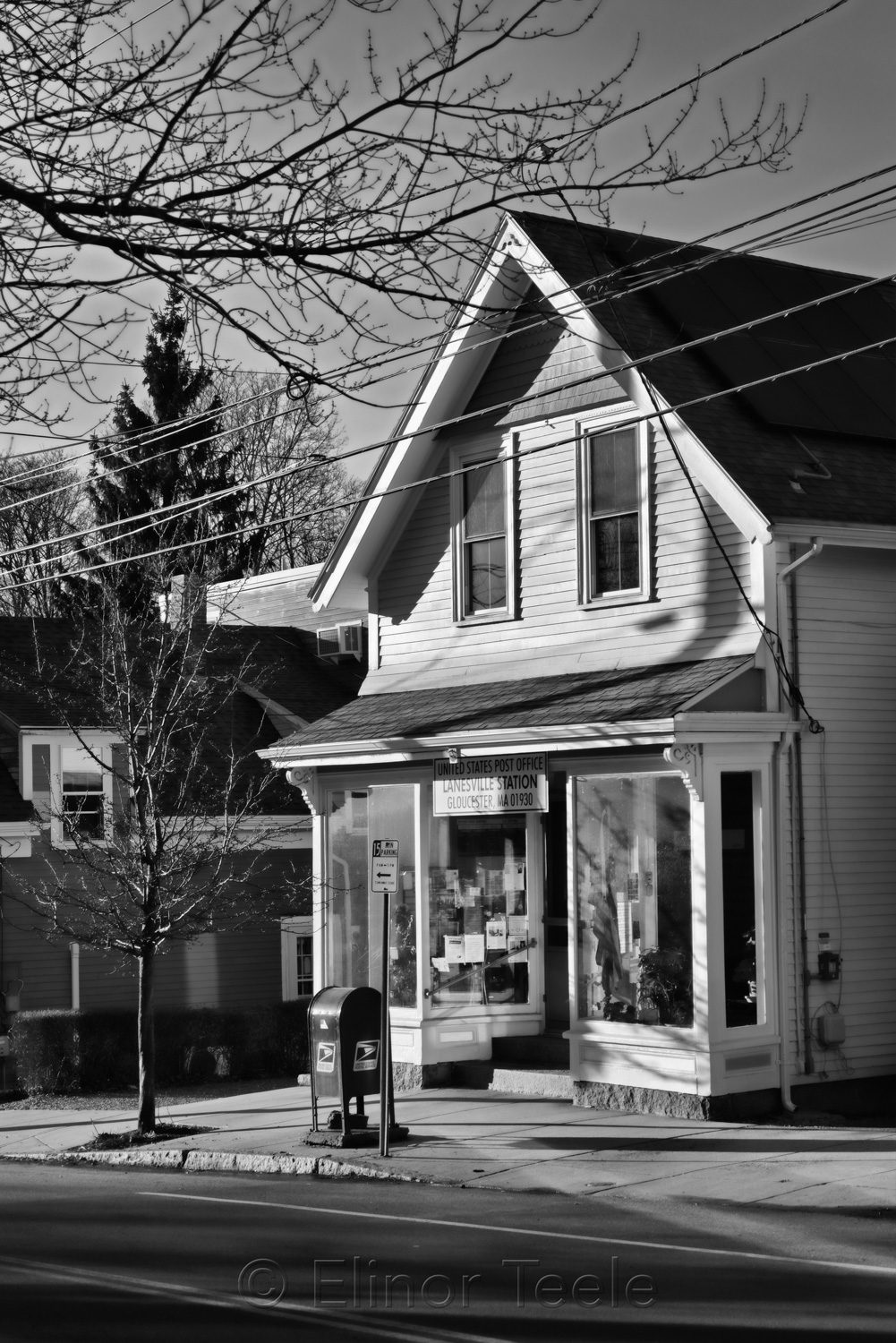 Post Office in Black & White, Lanesville MA