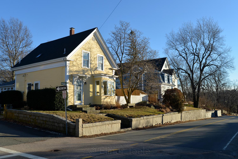 Washington Street in Winter, Lanesville MA
