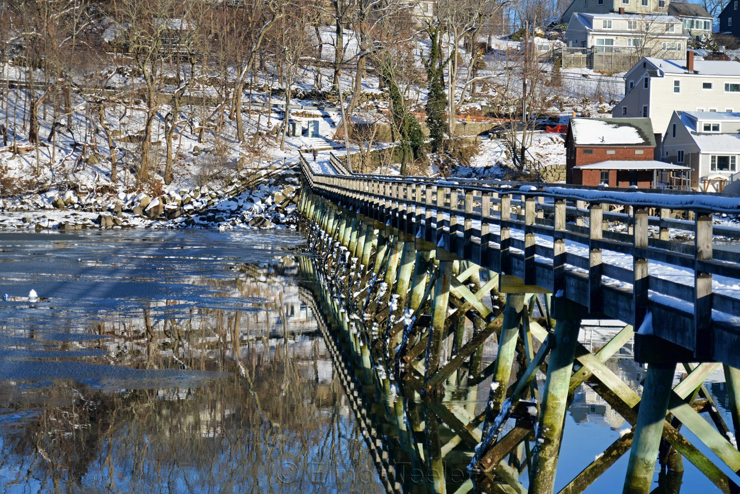 Footbridge - Winter Reflections (Landscape)