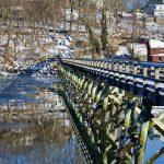 Footbridge - Winter Reflections (Landscape)