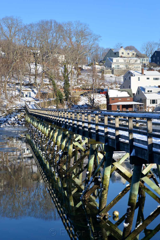 Footbridge - Winter Reflections (Portrait)