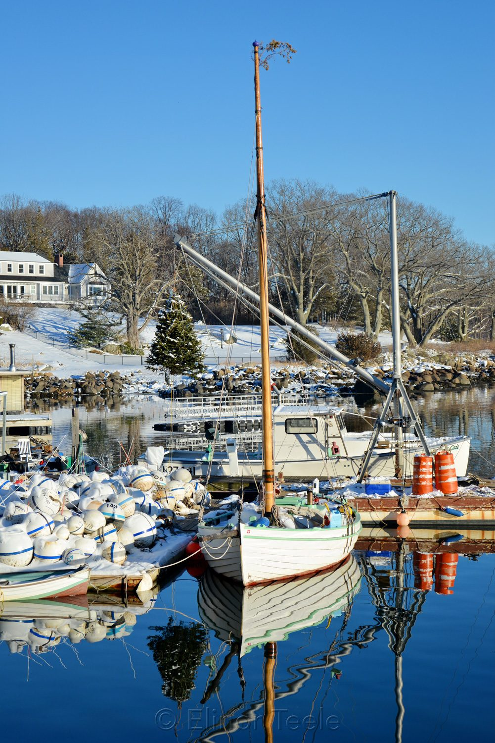 Annisquam Market - Winter Reflections (Close-Up)