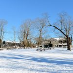 Carriage Barn & Stone Paddock in Winter - Appleton Farms