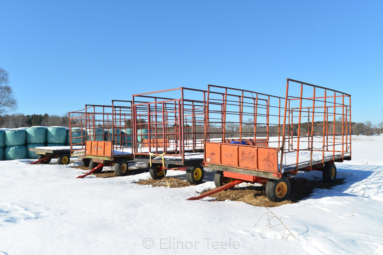 Hay Wagons in Winter - Appleton Farms