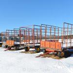 Hay Wagons in Winter - Appleton Farms