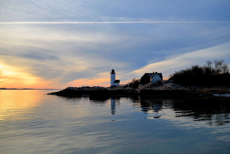 Lighthouse at Blue High Tide